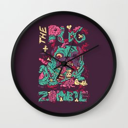 The Pug zombie Wall Clock