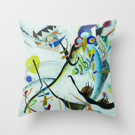 Vassily Kandinsky 1921 Segment blue Throw Pillow