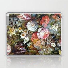 Worn vintage floral wood panel Laptop & iPad Skin