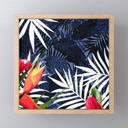 Bold Tropical Paradise Design Framed Mini Art Print