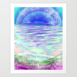 """""""Icy River"""" For iphone Art Print"""