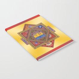 Meditation on Serenity (gradient gold) Notebook