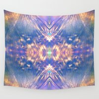 halo Wall Tapestries featuring LAVENDER HALO by Michael Angelo Galasso