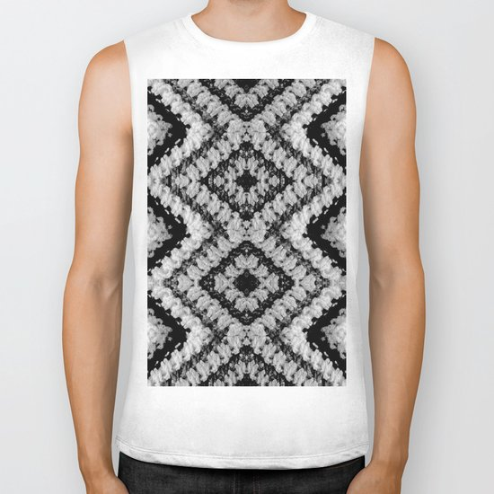 Black White Diamond Crochet Pattern Biker Tank