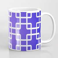 1d Mugs featuring Pattern 1D by Robin Curtiss