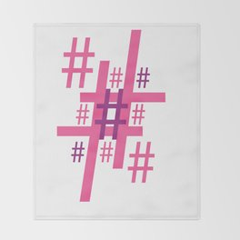 Hashtag Throw Blanket