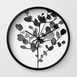 Watercolor Leaves II Wall Clock
