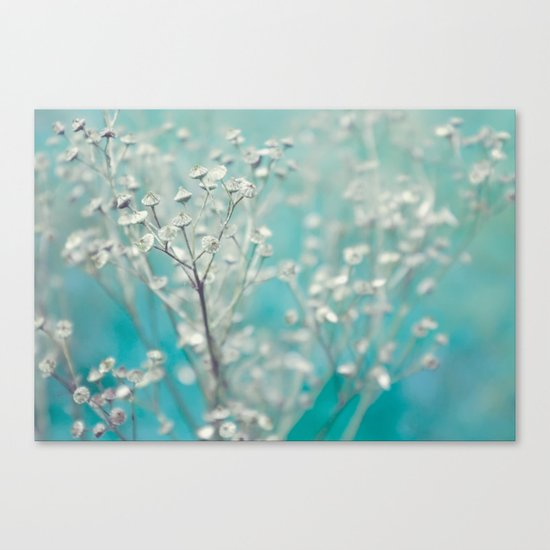 Ice blue - floral Canvas Print