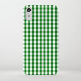 Christmas Green Gingham Check iPhone Case