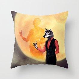 A Gentleman Caller Throw Pillow