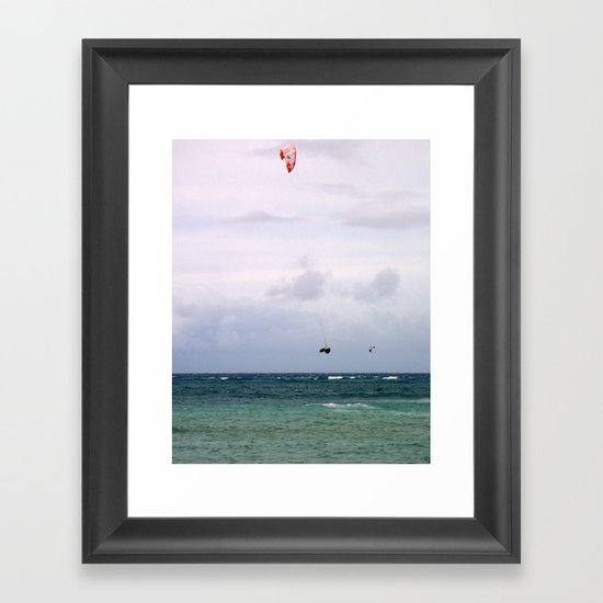 Let's Go Fly a Kite...In The Ocean Framed Art Print