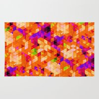 illusion Area & Throw Rugs featuring Illusion by KRArtwork
