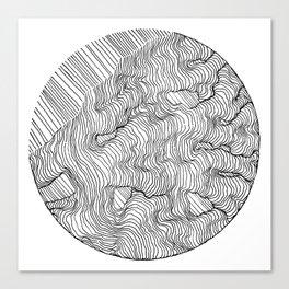 Vertigo Adrift (Vector) Canvas Print