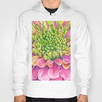 dahlia Hoodies featuring Dahlia by Susie Bell