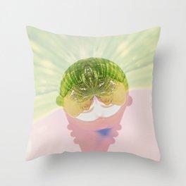 Ice cream abstract Throw Pillow