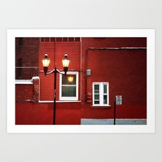 the wall painting Art Print