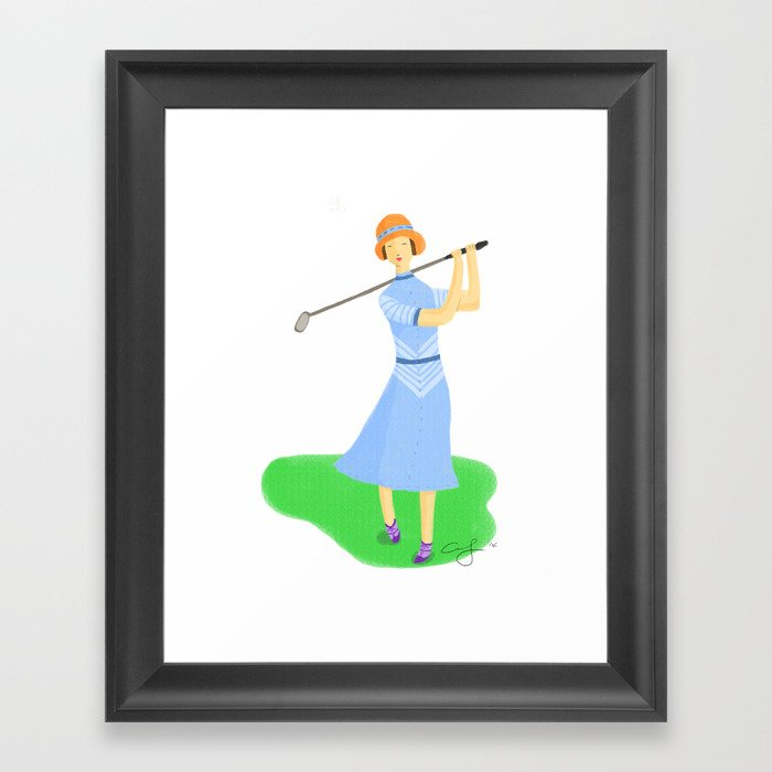 Sporty Lady #3 Framed Art Print