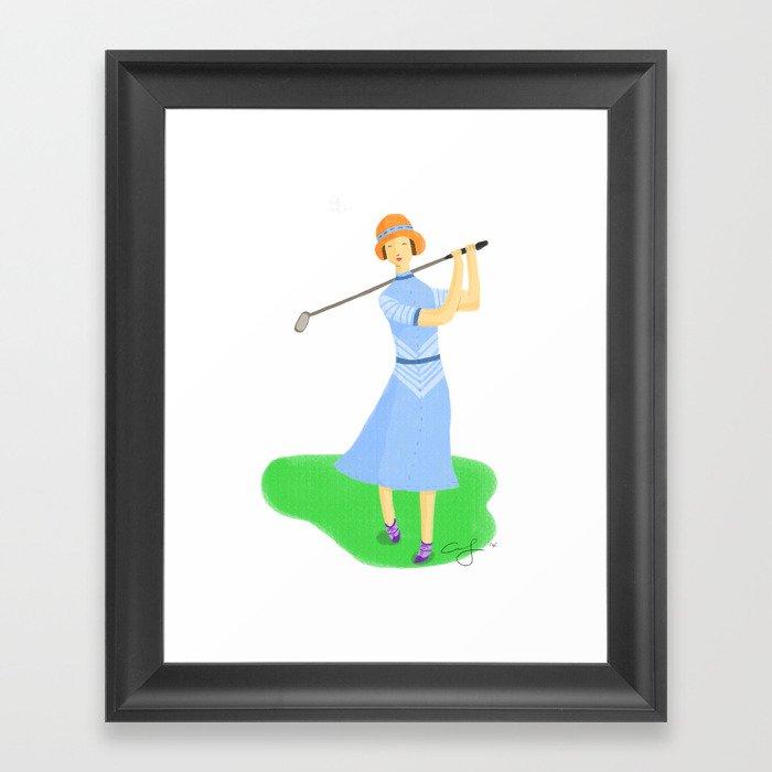 Sporty Lady #3 Framed Art Print