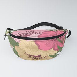 Trendy Seamless Floral Style Fanny Pack