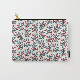 Organic pattern red and blue leaves. Carry-All Pouch