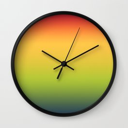 Abstract Colorful Tropical Blurred Gradient Wall Clock