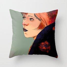 Clara (trace drawing) Throw Pillow
