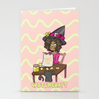 witchcraft Stationery Cards featuring Witchcraft by Olivia Dierker