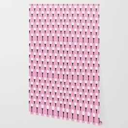 Golf Ball & Tee Pattern (Pink) Wallpaper