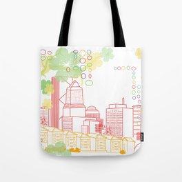 Crayon Portland Oregon Tote Bag