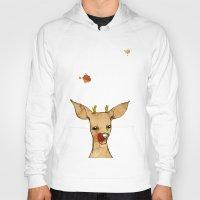 reindeer Hoodies featuring REINDEER by auntikatar