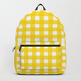 Vichy Karo Gelb Home Dekor Backpack