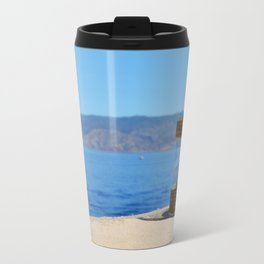 Looking Through the Candle Glass Travel Mug