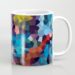 Abstract drawing cyclist in the night city Coffee Mug