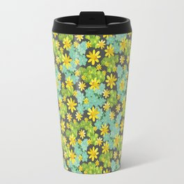 Yellow Ditsy Travel Mug