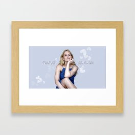 Making the world a better place starts with treating people with kindness. Framed Art Print