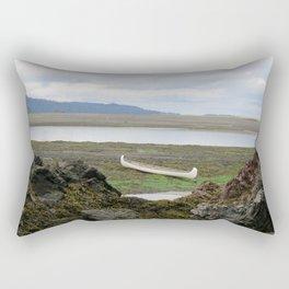 Abandoned :: A Lone Canoe Rectangular Pillow