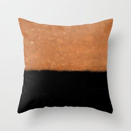 Two Tone Rust and Black Texture Throw Pillow