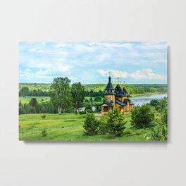 Village landscape Metal Print
