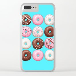Donuts Party Clear iPhone Case