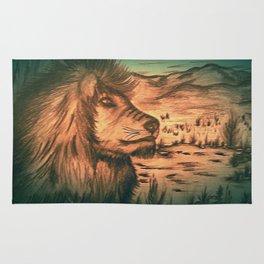 King of the jungle - Dusk Rug