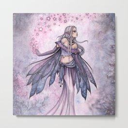Captured Sky Celestial Fairy Fantasy Art Metal Print
