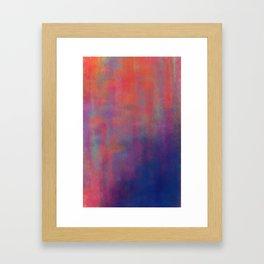 sunset pond Framed Art Print