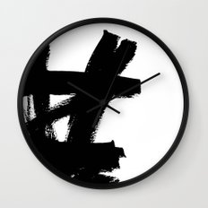 Abstract black & white 2 Wall Clock