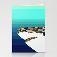 shark Stationery Cards featuring SHARK by Joan Horne
