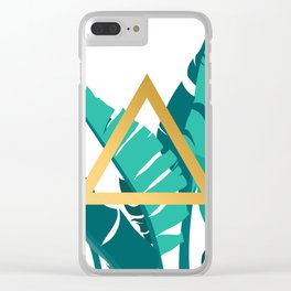 Leafs and triangle Clear iPhone Case