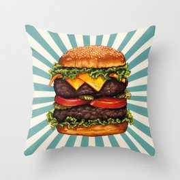 Cheeseburger - Double Throw Pillow