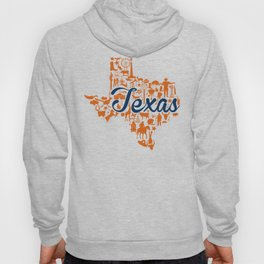 UT Austin Texas Landmark State - Blue and Orange UT Theme Hoody