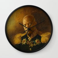 replaceface Wall Clocks featuring Samuel L. Jackson - replaceface by replaceface
