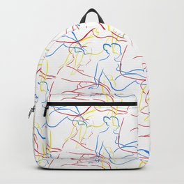 Nude Figures in Primary Colors Backpack