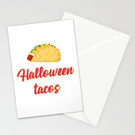 Halloween Tacos Fiesta Motivational Design Stationery Cards